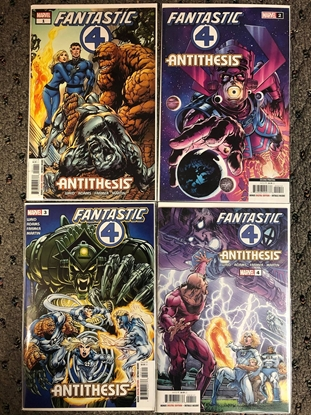 Picture of FANTASTIC FOUR ANTITHESIS #1 2 2ND PRINT 3 4 / NEAL ADAMS-MARK WAID NM SET