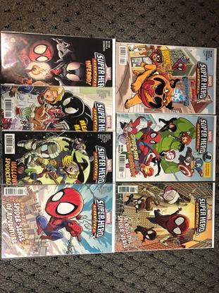 Picture of SUPER HERO ADVENTURES #1 LOT OF 7 ONE-SHOT SPIDER-VERSE VENOM NM