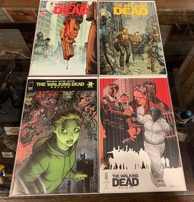 Picture of WALKING DEAD DELUXE #4 COVER A B C D SET