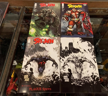 Picture of SPAWN #313 CVR A D C & B&W VIRGIN 4 COVER SET NM