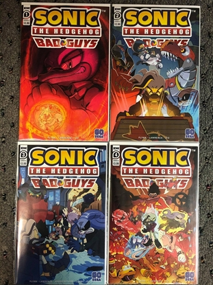 Picture of SONIC THE HEDGEHOG BAD GUYS #1 2 3 4 COVER A SET