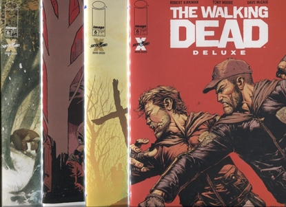 Picture of WALKING DEAD DELUXE #6 COVER A B C D SET