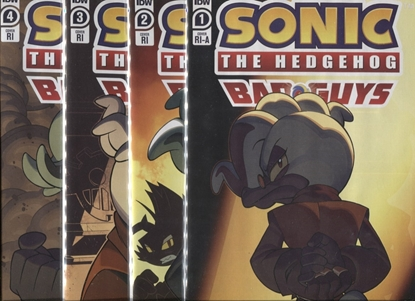 Picture of SONIC THE HEDGEHOG BAD GUYS #1 2 3 4 1:10 RETAILER INCENTIVE COVER SET