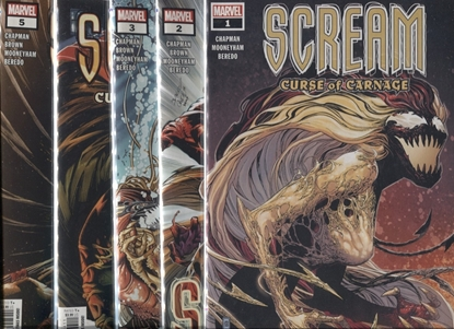 Picture of SCREAM CURSE OF CARNAGE #1 2 3 4 5 / 1ST PRINT SET NM