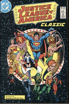 Picture of JUSTICE LEAGUE OF AMERICA (1960) #217 SO MUCH FUN VARIANT 6.0 FN