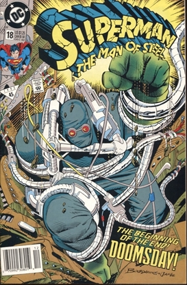 Picture of SUPERMAN MAN OF STEEL #18 NEWSSTAND EDITION 7.5 VF-