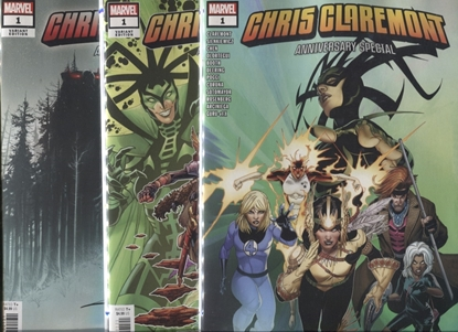 Picture of CHRIS CLAREMONT ANNIVERSARY SPECIAL #1 COVER A B C SET