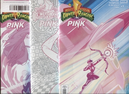 Picture of MIGHTY MORPHIN POWER RANGERS PINK #1 COLORING MORPHIN 1ST PRINT SET