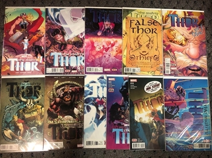 Picture of MIGHTY THOR (2016) #1 2 3 4 5 6 7 8 9 10 11 1ST PRINT SET NM