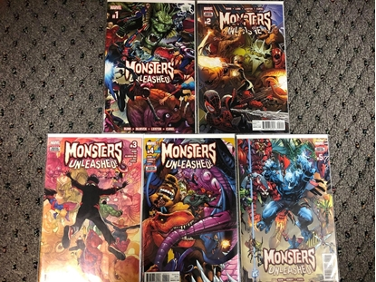 Picture of MONSTERS UNLEASHED #1 2 3 4 5 COMPLETE SET 1ST PRINT