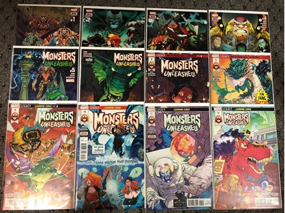Picture of MONSTERS UNLEASHED (2017) #1 2 3 4 5 6 7 8 9 10 11 12 1ST PRINT SET NM