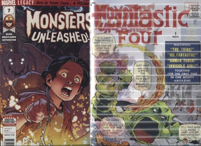 Picture of MONSTERS UNLEASHED (2017) #7 1ST PRINT AND LENTICULAR SET