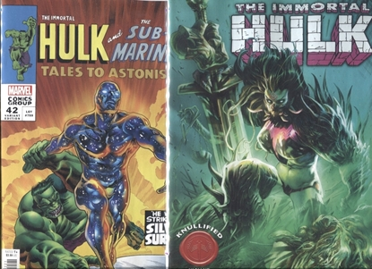 Picture of IMMORTAL HULK #42 / BENNETT HOMAGE & KNULLIFIED VARIANT COVER SET