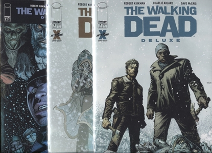 Picture of WALKING DEAD DELUXE EDITION #7 COVER A B C SET