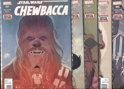 Picture of STAR WARS CHEWBACCA (2015) #1 2 3 4 5 / 1ST PRINT SET / NOTO COVER ART NM