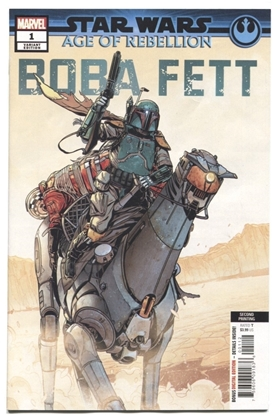 Picture of STAR WARS AOR BOBA FETT #1 2ND PRINT VARIANT NM+