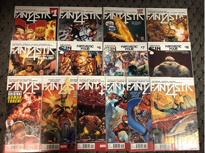 Picture of FANTASTIC FOUR (2014) #1 2 3 4 5 6 7 8 9 10 11 12 13 14 1ST PRINT FULL SET NM