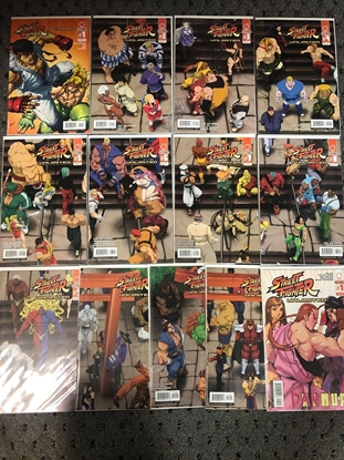 Picture of STREET FIGHTER UNLIMITED #1 2 3 4 5 6 7 8 9 10 11 12 ANNUAL 1 COVER B SET