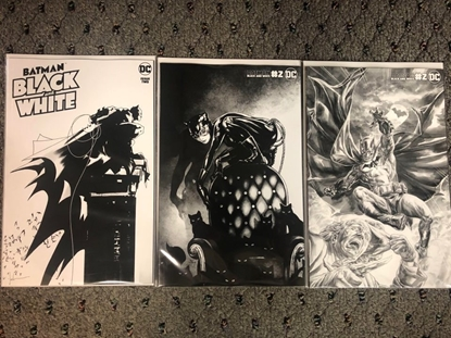 Picture of BATMAN BLACK AND WHITE #2 COVER A B & C SET