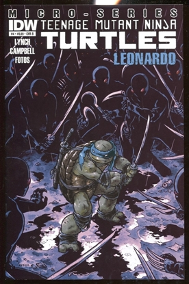 Picture of TEENAGE MUTANT NINJA TURTLES (2012) MICRO-SERIES LEONARDO #4 COVER B VF/NM