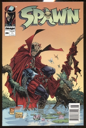 Picture of SPAWN #26 NEWSSTAND EDITION 9.0 VF/NM