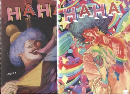 Picture of HAHA (2021) #1 COVER A & B VARIANT SET NM+