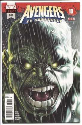 Picture of AVENGERS #684 1ST APP OF IMMORTAL HULK 9.6 NM+