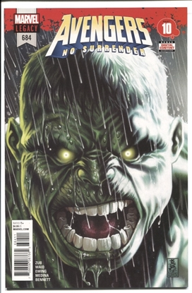 Picture of AVENGERS #684 1ST APP OF IMMORTAL HULK 9.2 NM-