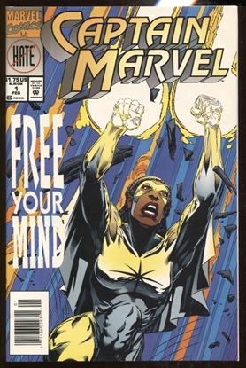 Picture of CAPTAIN MARVEL (1994) VOL. 2 #1 / FREE YOUR MIND / NEWSSTAND EDITION NM