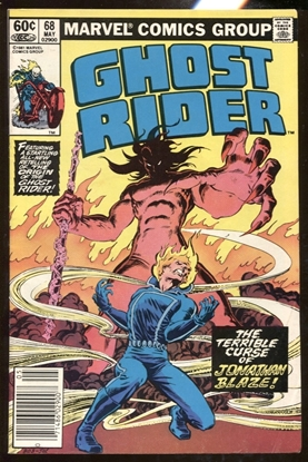 Picture of GHOST RIDER (1973) #68 / ORGIN RETOLD NEWSSTAND EDITION 6.0 FN