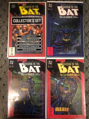 "Picture of BATMAN SHADOW OF THE BAT (1992) #1 2 3 4 / ""THE LAST ARKHAM"" SET NM"