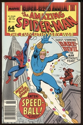 Picture of AMAZING SPIDER-MAN (1963) ANNUAL #22 8.0 VF NEWSSTAND EDITION