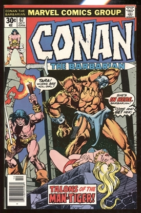 Picture of CONAN THE BARBARIAN (1970) #67 9.4 NM MARK JEWELERS INSERT