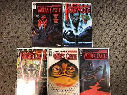 Picture of STAR WARS ADVENTURES RETURN TO VADER'S CASTLE #1 2 3 4 5 COVER B SET IDW NM