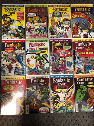 Picture of TRUE BELIEVERS FANTASTIC FOUR / 12-COMIC LOT #48 #112 #65 NM