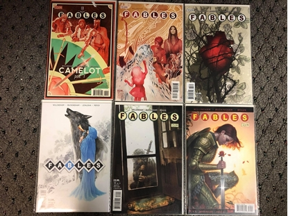 """Picture of FABLES #131 132 133 134 135 136 """"CAMELOT"""" STORY ARC SET NM"""