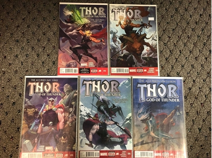 """Picture of THOR GOD OF THUNDER (2012) #13 14 15 16 17 """"THE ACCURSED"""" 1ST PRINT SET"""