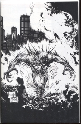 Picture of SPAWN #313 BLACK AND WHITE COVER D 1:5 INCENTIVE