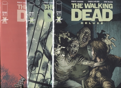 Picture of WALKING DEAD DELUXE #8 COVER A B C SET NM