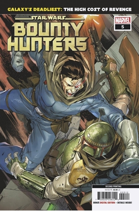 Picture of STAR WARS BOUNTY HUNTERS #5 2ND PRINT VILLANELLI VARIANT