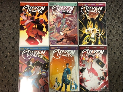 Picture of SEVEN SECRETS #1 2 3 4 5 6 / 1ST PRINT SET / BOOM! TOM TAYLOR NM