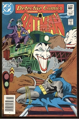 Picture of DETECTIVE COMICS #532 / JOKER COVER & STORY / 8.5 VF+ NEWSSTAND