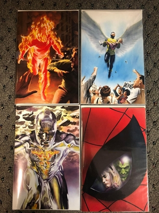 Picture of MARVELS ANNOTATED #1 2 3 4 / ALEX ROSS VIRGIN COVER SET NM