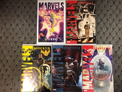 Picture of MARVELS ANNOTATED #1 2 3 4 / VARIANT COVER SET + EPILOGUE NM