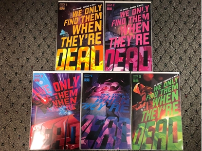 Picture of WE ONLY FIND THEM WHEN THEY'RE DEAD #1 2 3 4 5 / 1ST PRINT SET BOOM! EWING NM