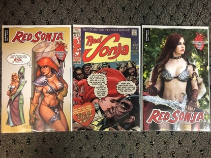Picture of RED SONJA VALENTINE'S DAY SPECIAL 2021 #1 / COVER A LINSNER B C PHOTO NM