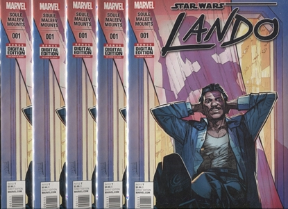 Picture of STAR WARS LANDO (2015) #1 / LOT OF 5 COPIES / 1ST PRINT COVER NM