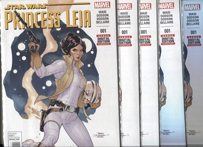 Picture of PRINCESS LEIA (2015) #1 / LOT OF 5 1ST PRINT NM COPIES / WAID-DODSON