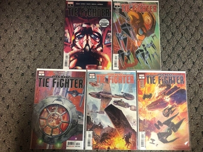Picture of STAR WARS TIE FIGHTER #1 2 3 4 5 / 1ST PRINT SET NM / HOUSER