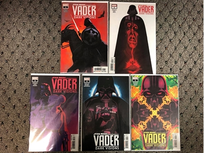 Picture of DARTH VADER DARK VISIONS #1 2 3 4 5 / 1ST PRINT SET NM